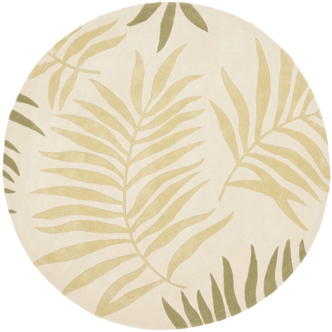 Safavieh Handmade Ferns Ivory New Zealand Wool Rug (2'6 x 12')