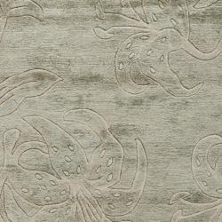 Safavieh Handmade Floral Grey New Zealand Wool Rug (5'x 8')