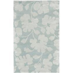 Safavieh Handmade Shadows Light Blue New Zealand Wool Rug (9'6 x 13'6)