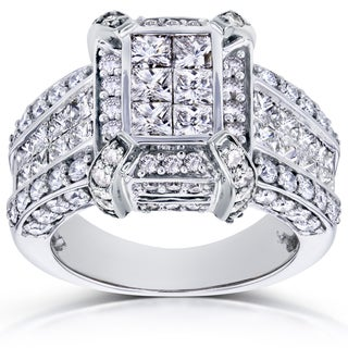 Annello 14k Gold 3ct TDW Diamond Ring (H-I, I1-I2)