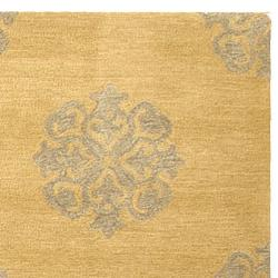 Safavieh Handmade Medallion Beige New Zealand Wool Rug (8'3 x 11')
