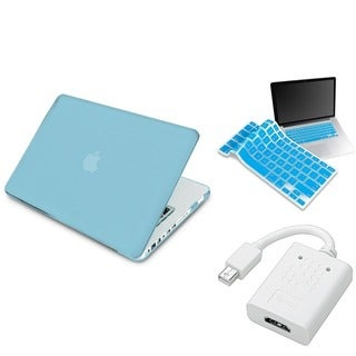INSTEN Blue Laptop Case Cover/ Keyboard Skin/ HDMI Adapter for Apple Macbook Pro 13-inch