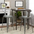 Tabouret Silver with Back 30-inch Bar Stools (Set of 2)
