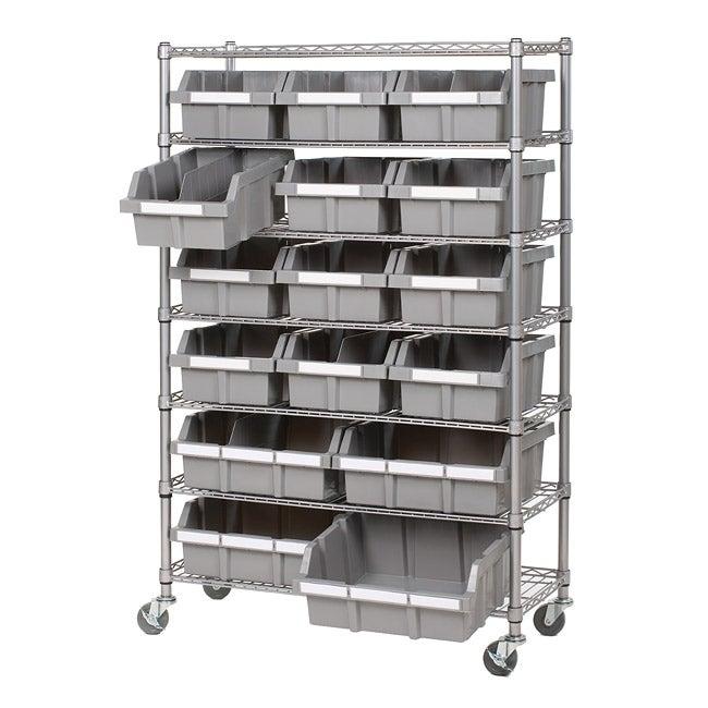 Seville 7-shelf Commercial Bin Rack Storage System
