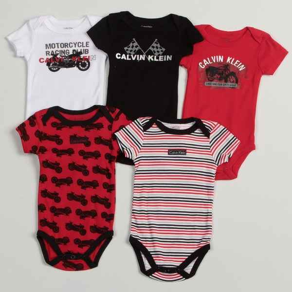 Calvin Klein Newborn Boys Assorted Bodysuit (Pack of 5)