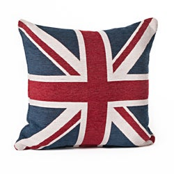 Union Jack 18-Inch Color Throw Pillow