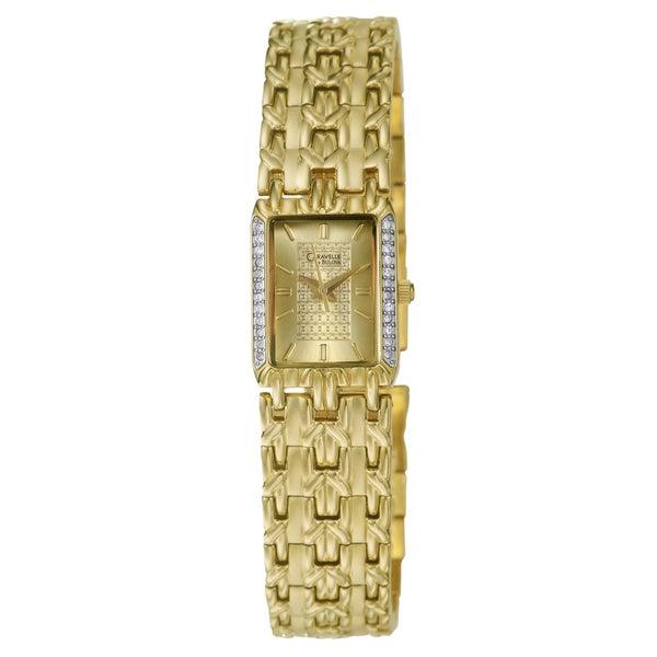 Caravelle Women's Gold-plated Bracelet Watch