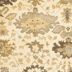 Safavieh Oushak Cream/ Brown Powerloomed Area Rug (9'6 x 13')