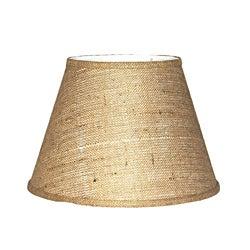 Brown Burlap Modified Drum Lamp Shade