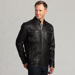Izod Men's Lambskin Leather Jacket
