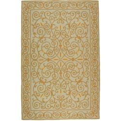 Safavieh Hand-hooked Chelsea Irongate Light Blue Wool Rug (8'9 x 11'9)