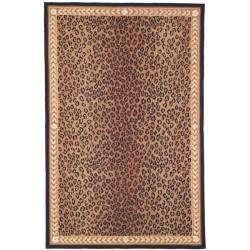 Safavieh Hand-hooked Chelsea Leopard Brown Wool Rug (8'9 x 11'9)