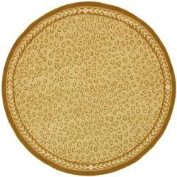Safavieh Hand-hooked Chelsea Leopard Ivory Wool Rug (3' Round)