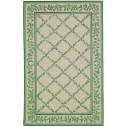 Safavieh Hand-hooked Trellis Ivory/ Light Green Wool Rug (8'9 x 11'9)