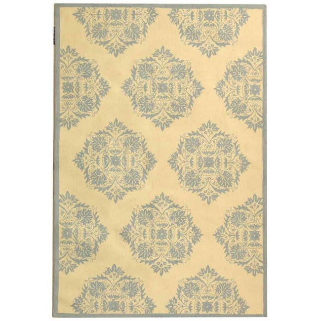 """Safavieh Hand-Hooked Chelsea Ivory Cotton-Canvas Wool Rug (7'6"""" x 9'9"""")"""