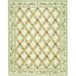 Safavieh Hand-hooked Garden Trellis Ivory Wool Rug (8'9 x 11'9)