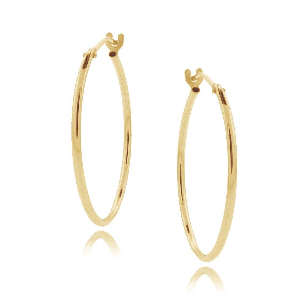 Mondevio 10k Yellow Gold Hoop Earrings
