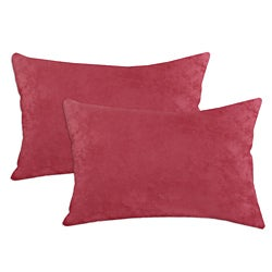 Passion Suede Dusty Rose Simply Soft S-backed 12.5x19 Fiber Pillows (Set of 2)