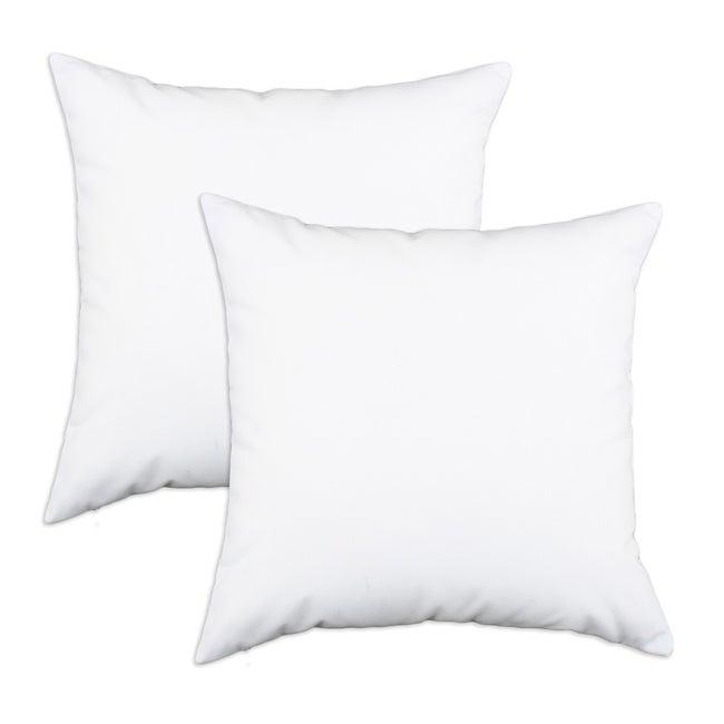 Duck White S-backed 17x17-inch Fiber Pillows (Set of 2)