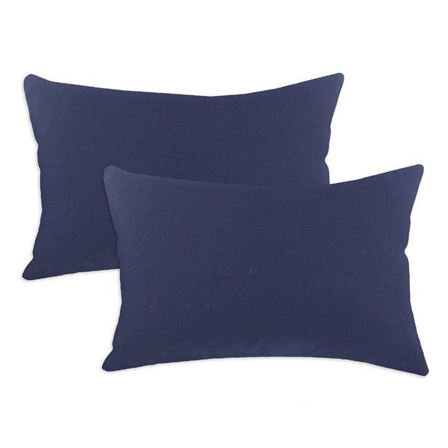 Duck Navy S-backed 12.5x19-inch Fiber Pillows (Set of 2)