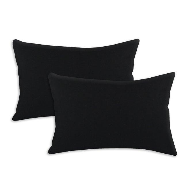Duck Black S-backed 12.5x19-inch Fiber Pillows (Set of 2)