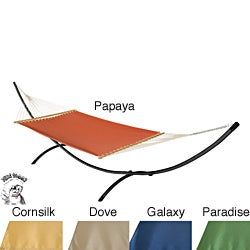 Phat Tommy Dupione Deluxe Hammock and Stand Combination Made with Sunbrella
