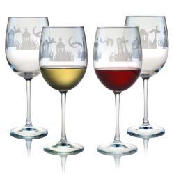 Halloween RIP 19-oz Wine Glasses (Set of 4)