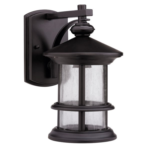 Transitional Rubbed Dark Bronze 1-light Outdoor Wall Fixture - Overstock Shopping - Big ...
