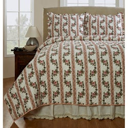 Celine Handmade 3-piece Peony Quilt Set