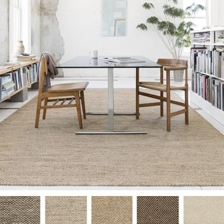 Hand-woven Cape Cod Wool/ Cotton Rug (5 x 7'6)