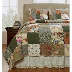 Naomi Patchwork Cotton 3-piece Quilt Set