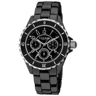 Akribos XXIV Women's Ceramic Multifunction Bracelet Watch
