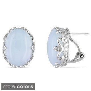 Miadora Gemstone and Diamond Accent Earrings (H-I, I2-I3)