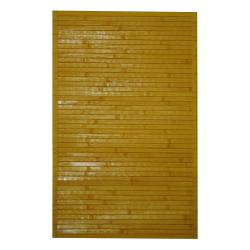 """Asian Handwoven Yellow Bamboo Accent Rug (1'8"""" x 2'8"""")"""