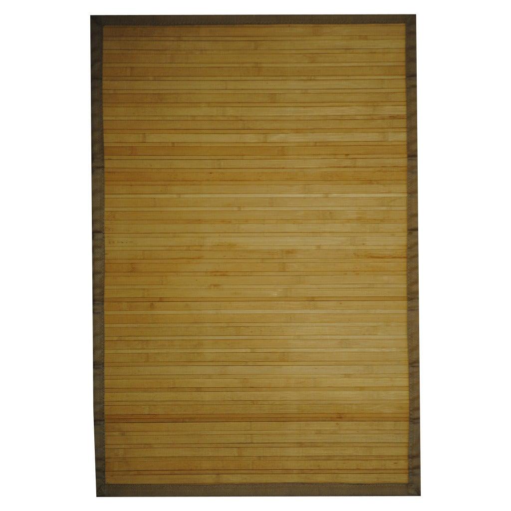Asian Hand-woven Beige Bamboo Rug (2' x 3')