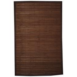 Asian Hand-woven Beige Bamboo Rug (1'8 x 2'8)