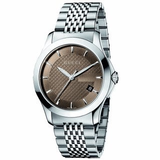 Gucci Men's Timeless Brown Dial Steel Watch