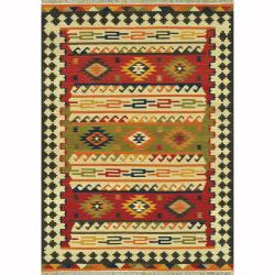 Hand Woven Cordova Multi Wool Rug (5'0 x 7'6)