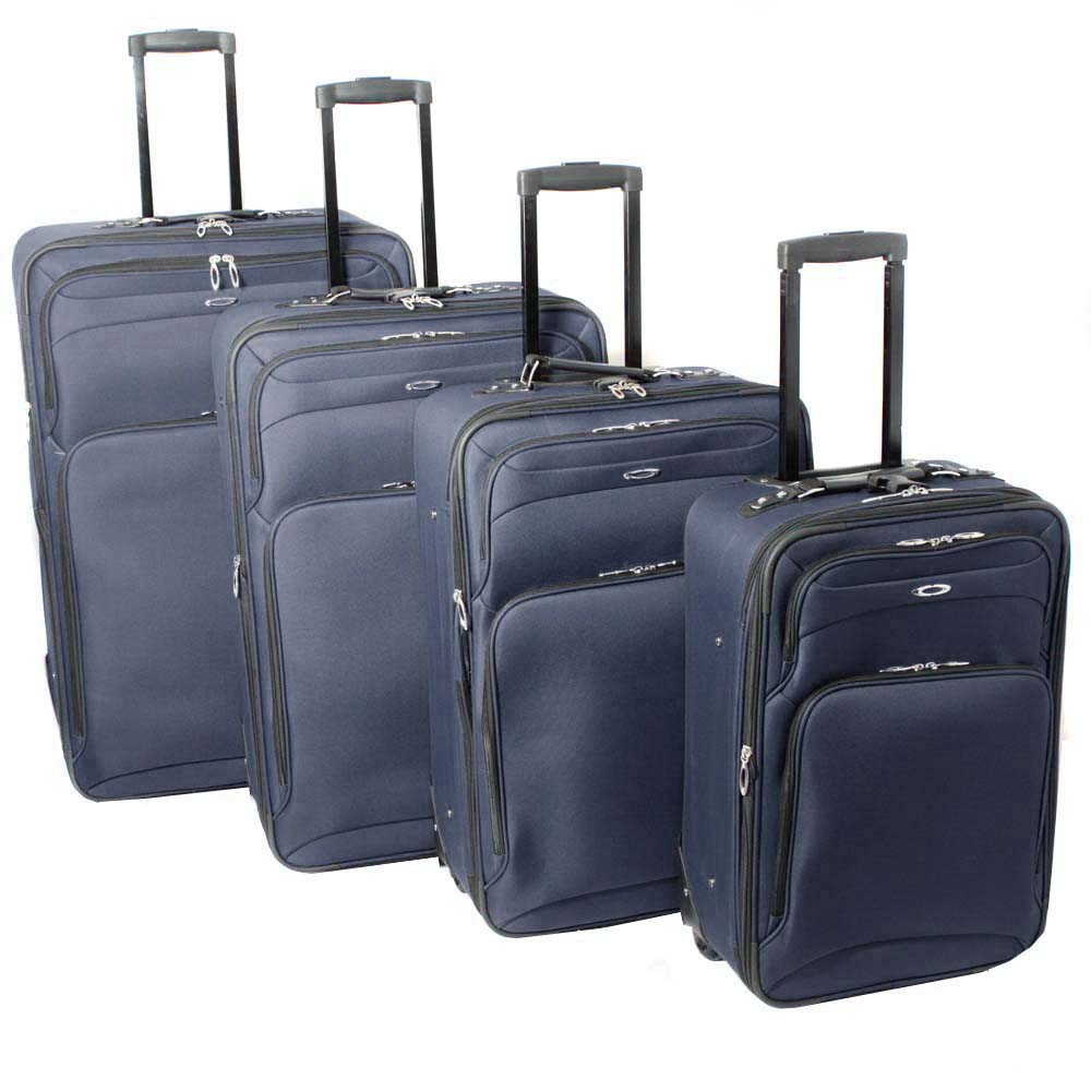 Kemyer Vacationer Lightweight 4-piece Navy Expandable Luggage Set