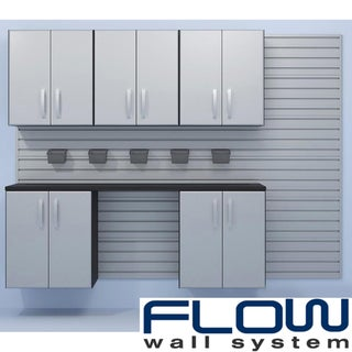 Flow Wall Silver Workstation with Small Hard Bins