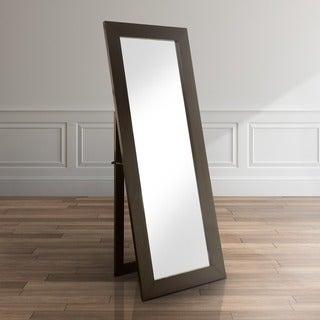 Furniture of America Emilia Black Finish Full Body Mirror