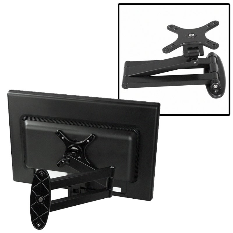 BasAcc Black LCD Wall Mount Bracket for 10-24-inch Flat Panel TV (W100)