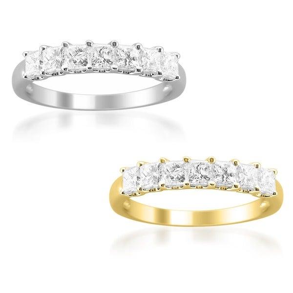 14k Gold 1ct TDW Princess Diamond Wedding Band (H-I, I1-I2)
