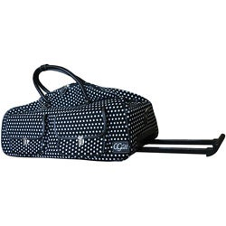 CGull Cricut Expression Canvas Rolling Tote-Black/White Polka Dot
