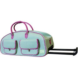 CGull Cricut Expression Canvas Rolling Tote-Green/White Polka Dot