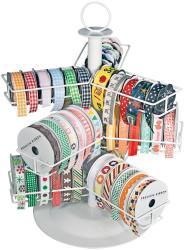 Cropper Hopper Wire Ribbon Carousel-White