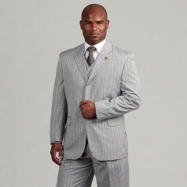 Phat Farm Men's 3-piece Grey Stripe Suit