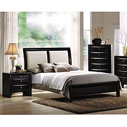 Ireland White California King Bed with Black Finished Headboard