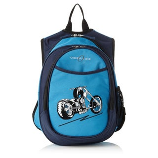 Obersee Kids All-In-One Blue Motorcycle Backpack With Cooler