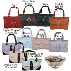 Piel Leather Purse With Front Pocket